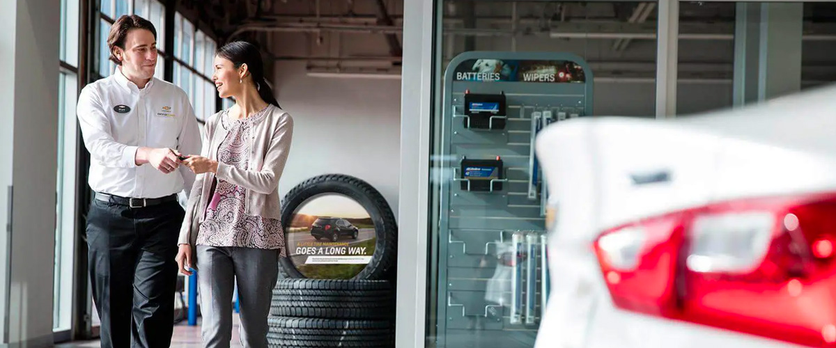 Woman at dealership header