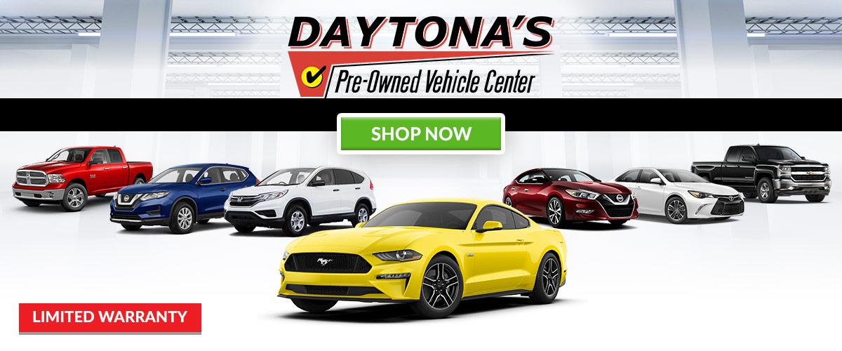 Daytona Pre-Owned Vehicle Center header
