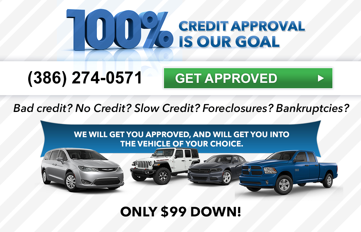Bad Credit Car Dealerships >> Bad Credit Car Loans Dodge Jeep Financing Near Palm Coast Fl