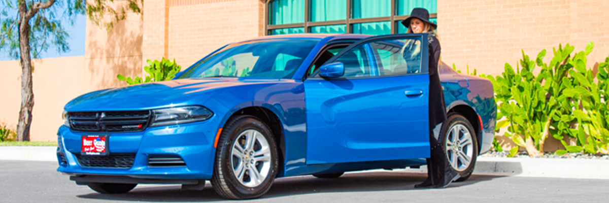 A blue 2021 Dodge Charger