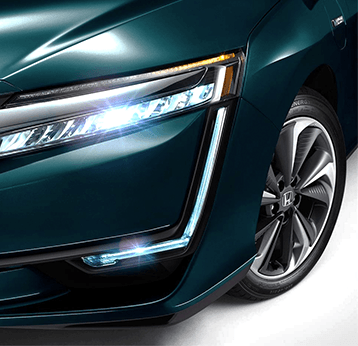 2018 Honda Clarity Plug-In Hybrid : Unique Full LED Headlights provide a distinct light signature unlike anything else on the road.