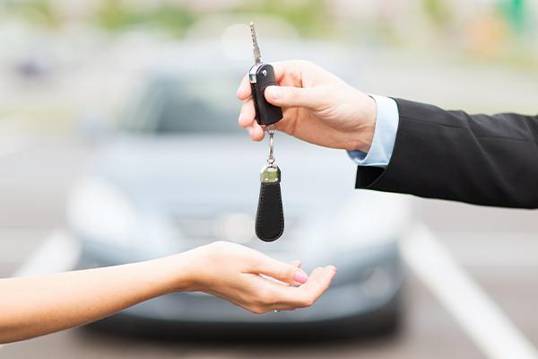 Handing Car keys