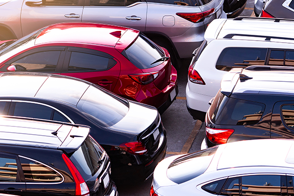 Cars in a dealership