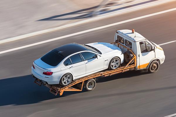 Delivering a car