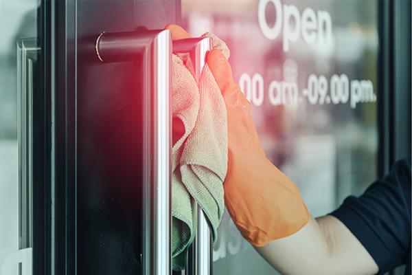 Cleaning Dealership door handles