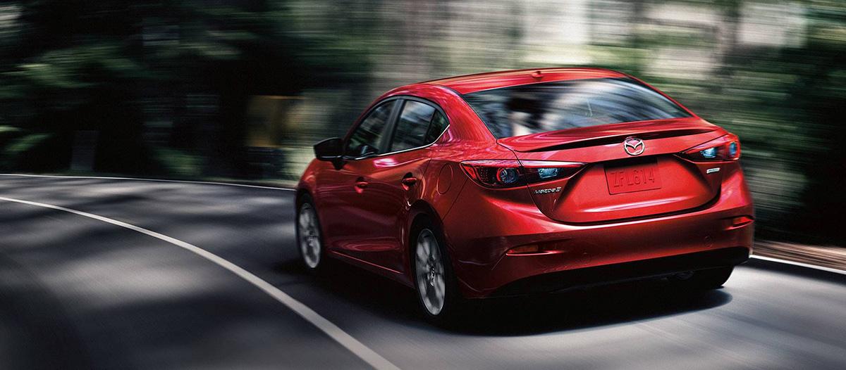 2018 Mazda3 rear driving