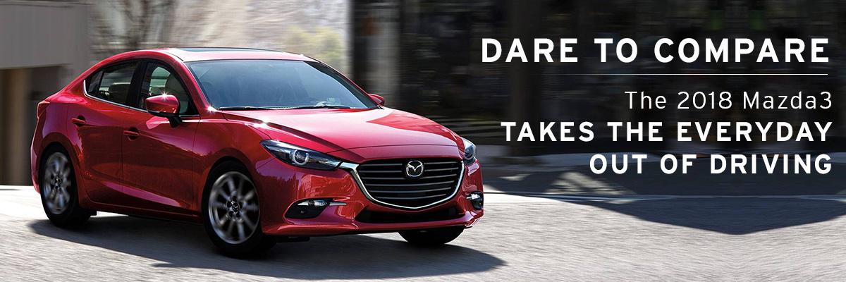 2018 Mazda3 on road