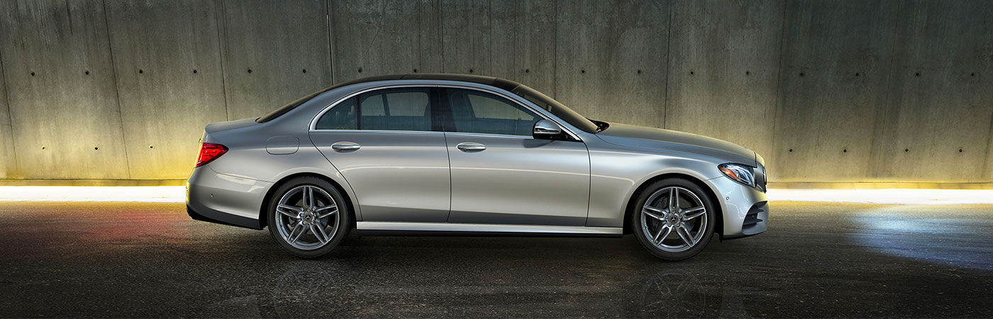 E 300 Sedan in Iridium Silver with AMG Line and 19-inch AMG twin 5-spoke wheels