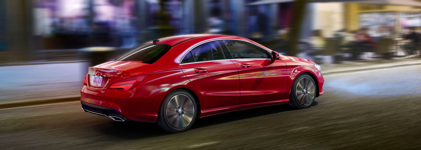 CLA250 4MATIC in Jupiter Red with 18-inch 5-spoke wheels