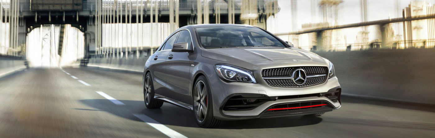 CLA250 in Mountain Grey with Sport Package Plus including 18-inch AMG wheels
