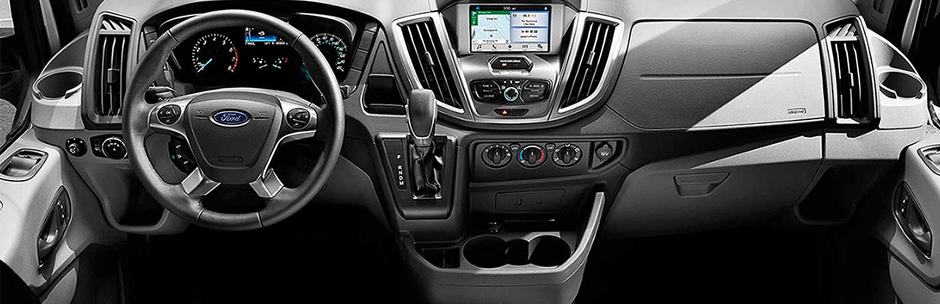 interior image of a commercial Ford vehicle