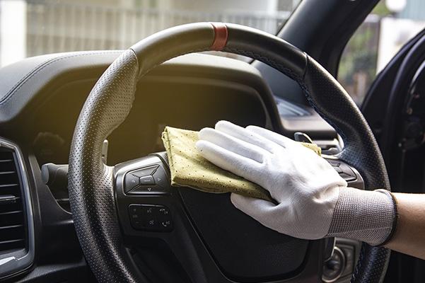 Santizing Interior of Car