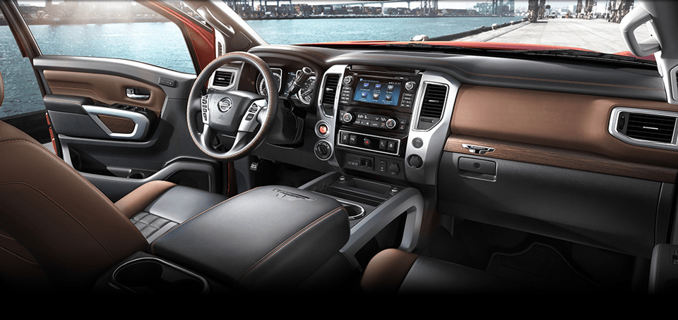 Technology Features and Cabin View of 2017 Nissan Titan in Newnan, GA.