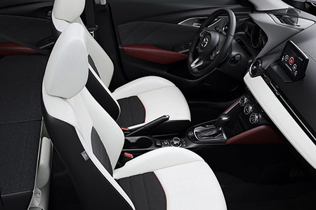 2018 mazda cx-3 white leather interior