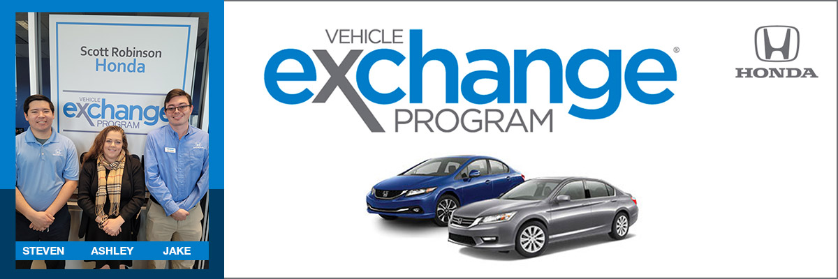 Honda carcuts on a white background with Vehicle Exchange Program logo