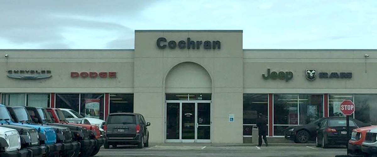 #1 Cochran Chrysler Dodge Jeep Ram - 110 Route 908 Natrona Heights, PA 15065